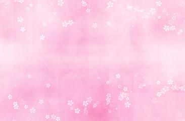 Wall Mural - 桜のイラスト(ピンク色のぼけた背景)