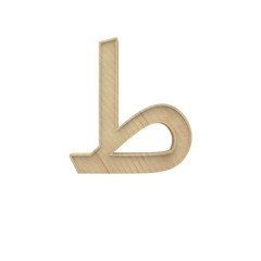 Ta, Ti Arabic Wooden alphabet letter different style 3d volumetric wood texture font set isolated on white background 3d illustration