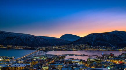 night cityscape ,Tromso , Norway