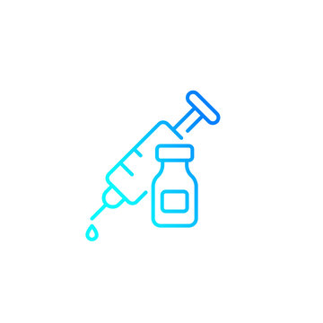 vaccination linear icon