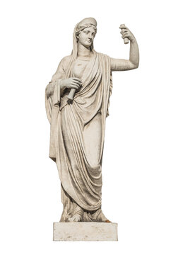 sculpture of the ancient Greek god Athena, isolate