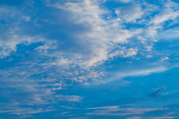 blue sky with clouds background, summer time, beautiful sky