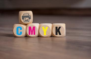 Würfel mit CMYK