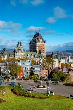 Frontenac castle in Quebec, Canada