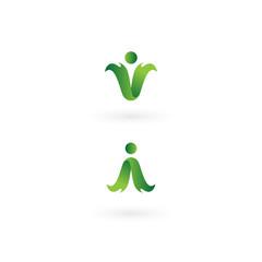 Healthy People Wellness Vector Graphic