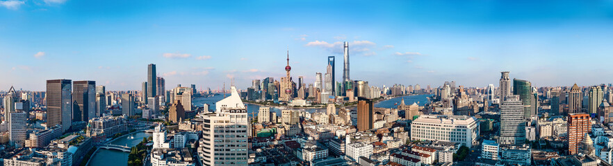 panorama of shanghai china