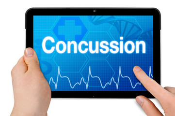 Tablet computer with concussion