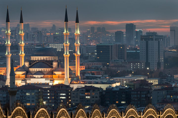 Ankara, The Capital city of Turkey - A cityscape with the major monumental buildings