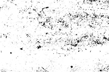 Black and white grunge urban texture vector with copy space. Abstract illustration surface dust and rough dirty wall background with empty template. Distress or dirt and grunge effect concept - vector