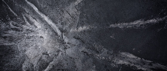 Banner of textured black marble concrete background