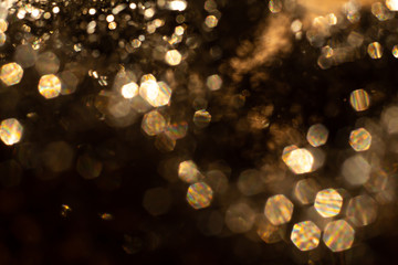 Bokeh & Blurred light in black background, Close up & Macro shot, Selective focus Wall mural
