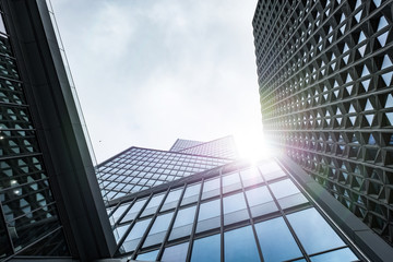 immeuble building bureau banque affaire business vitre verrière moderne la défense construction architecture