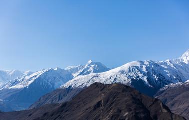 Foto op Plexiglas Bergen Mountain rang at Rakaposhi peak (7788m) from view point at Hunza Valley, Pakistan