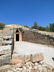 Europe, Greece, Mycenae, entrance to the tomb of Agamemnon. Some scientists suggest that this is where the terrible ruler, sung by Homer, is buried.