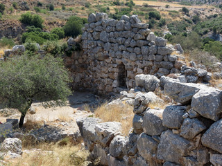 Europe, Greece, Mycenae, ancient ruins do not spare time, the old stones are gradually erased