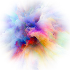 Metaphorical Colorful Paint Splash Explosion