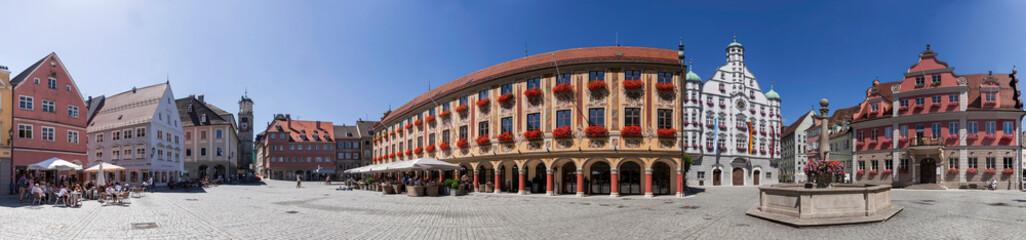Memmingen Marktplatz Panorama