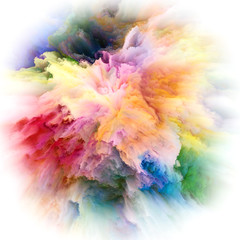Computing Colorful Paint Splash Explosion