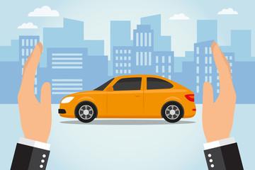 Insurance car concept