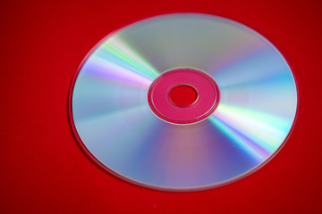 Cd isolated against red background