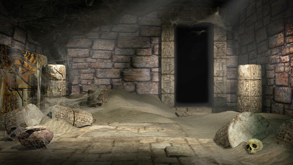 Plundered Egyptian tomb
