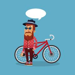 bike and cyclist icons image