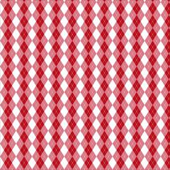 アーガイルチェック 赤色
