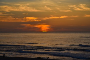 夕日が浦海岸 夕焼け