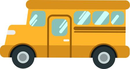 Vector school bus or shuttleon the White Blackground