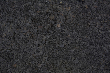 The texture of the crushed stones