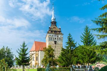 Wall Mural - Fortified church on Saschiz, Transylvania, Romania