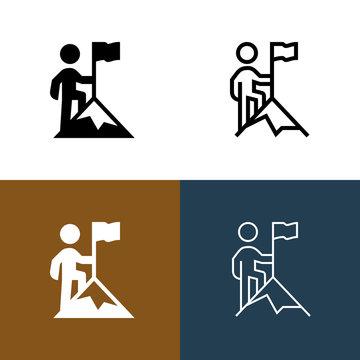 Mountaintop Icon Set