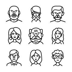 People Avatars Icon Set