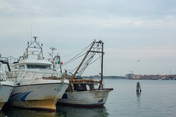 Chioggio, Italy: fishing boats in harbor