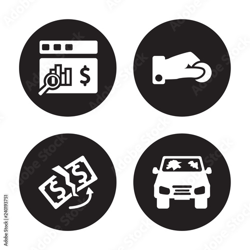 4 Vector Icon Set Actual Cash Value Replacement Value