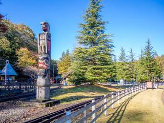 【静岡県伊豆市】公園のトーテムポール【修善寺虹の郷】