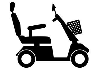 gz235 GrafikZeichnung - german - Elektromobil / Scooter / Seniorenmobil - english - travel- mobility-scooter - simple template - DIN A2, A3, A4 - xxl g6912