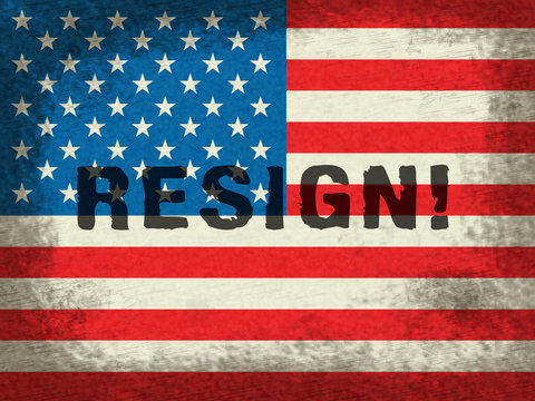 Resign Flag Means Quit Or Resignation From Job Government Or President