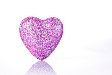 Pink heart isolated