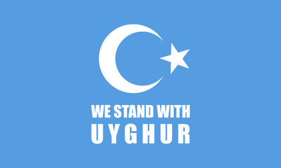 Save Uyghur Background Banner vector, We Stand With Uyghur Banner