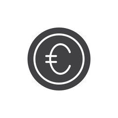 eu currency vector icon. filled flat sign for mobile concept and web design. Euro coin money simple solid icon. Symbol, logo illustration. Pixel perfect vector graphics