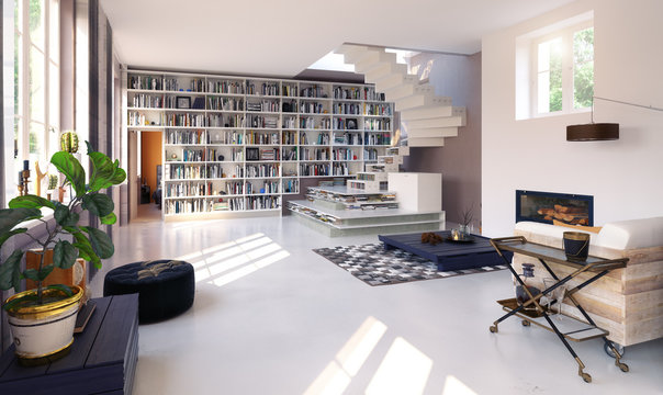 modern living interior.