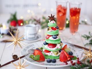 オシャレなパンケーキクリスマスツリー