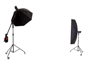 Two large photographic softbox