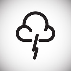 Weather lightning icon on white background for graphic and web design, Modern simple vector sign. Internet concept. Trendy symbol for website design web button or mobile app