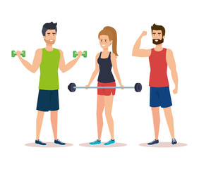 strong people lifting weight