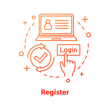 Registration concept icon