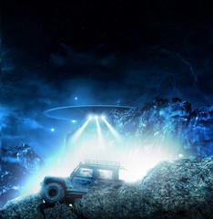 In de dag UFO Ufo contact