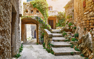 Croatia Istria. Ancient abandoned medieval town Plomin. Old Fototapete