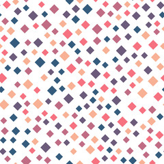 Seamless abstract geometric pattern of squares in random order. Funny, happy and children theme. Simple flat vector illustration.